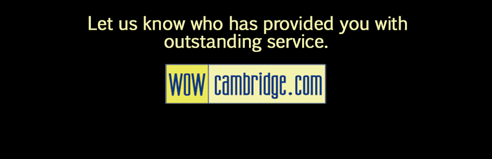 "<h1>Going Above and Beyond.</h1>Each month we recognize an individual, who has gone above and beyond, providing extraordinary service in everyday situations.  <br><div class=""banner_link_separator""></div><a href=""http://www.cambridgechamber.com/Programs-Community.htm"" style=""border:none;text-decoration:underline;"">Click here for more information.</a>"